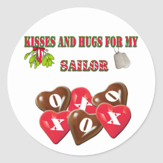 Kisses And Hugs For My Sailor Stickers