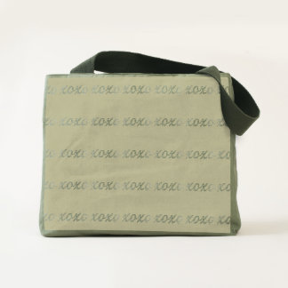 KISSES AND HUGS GALORE CANVAS UTILITY TOTE