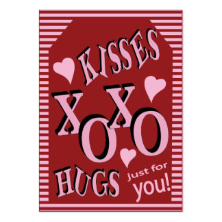Kisses and Hugs Just for You Large Business Card