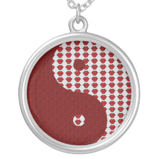 Kisses and Lips Yin Yang Personalized Necklace