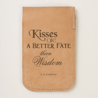 """""""Kisses Are A Better Fate Than Wisdom"""" Quote iPhone 6/6S Case"""