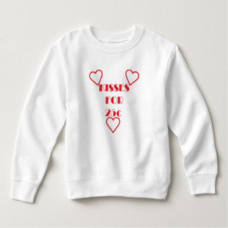 Kisses for 25 cents - Toddler Fleece Sweatshirt T-shirts