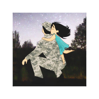 Kisses for Daddy Canvas Wall Art
