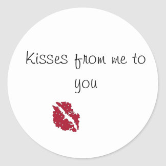 Kisses From Me To You Sticker
