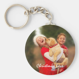 Kisses from New Puppy - Girl and Boy Keychain