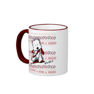 Kisses & Hugs Westie Dog Mug