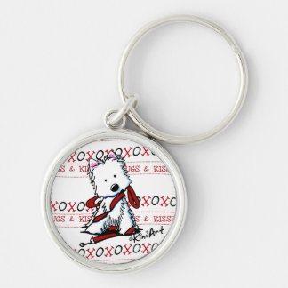 Kisses & Hugs Westie Keychain