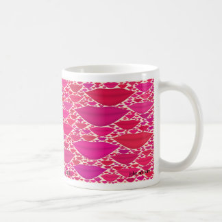 kisses classic white coffee mug