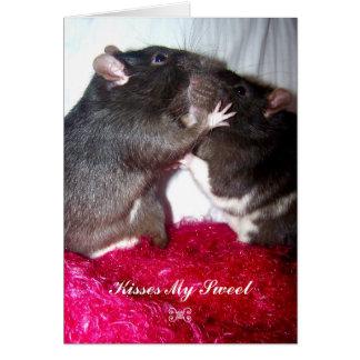 Kisses My Sweet Greeting Card