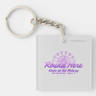 Kisses On The Midway Keychain