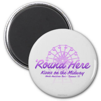Kisses On The Midway 2 Inch Round Magnet
