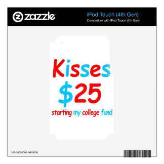 kisses  starting my college fund iPod touch 4G skins