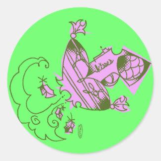kisses stikka round stickers