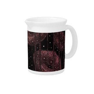 Kisses Under The Stars Burgundy Beverage Pitcher