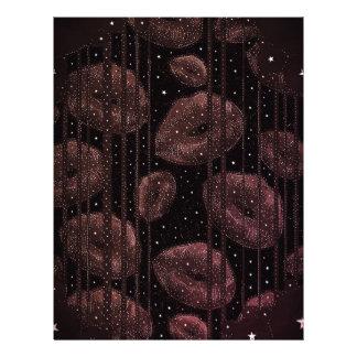 Kisses Under The Stars Burgundy Letterhead