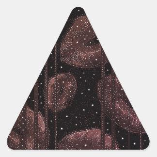 Kisses Under The Stars Burgundy Triangle Sticker