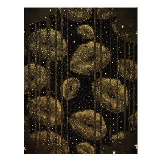 Kisses Under The Stars Gold Letterhead