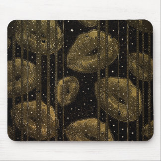 Kisses Under The Stars Gold Mouse Pad