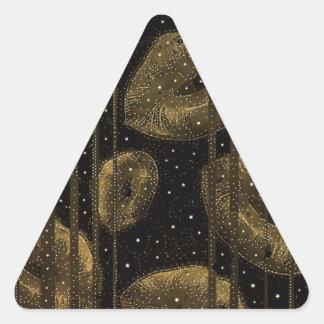 Kisses Under The Stars Gold Triangle Sticker