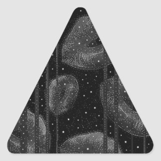 Kisses Under The Stars Triangle Sticker