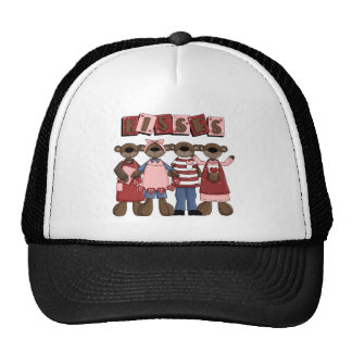 Kisses Valentine Bears T-shirts and Gifts Trucker Hat