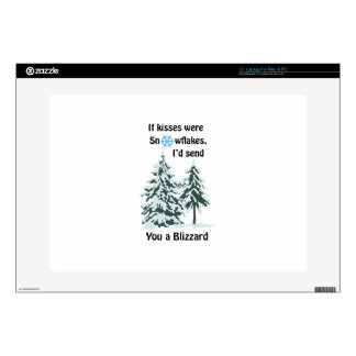 "Kisses Were Snowflakes 15"" Laptop Skin"