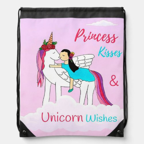 Kisses & Wishes Backpack Drawstring