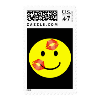 'kissey '   SMILEY FACE POSTAGE