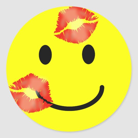 'KISSEY' SMILEY FACE STICKERS