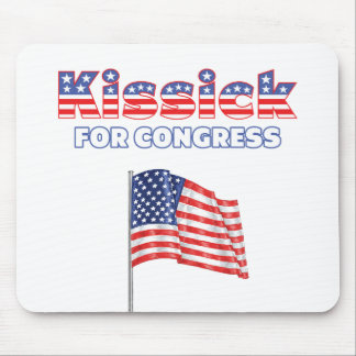 Kissick for Congress Patriotic American Flag Mouse Pad