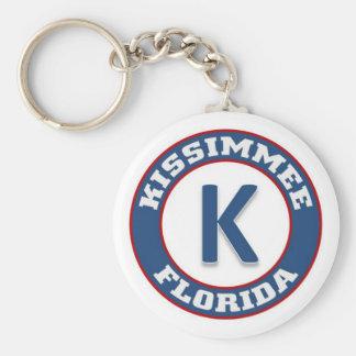 Kissimmee Basic Round Button Keychain