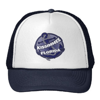Kissimmee Florida anchor swirl trucker hat