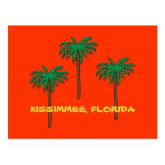 KISSIMMEE postal de las palmeras de la FLORIDA