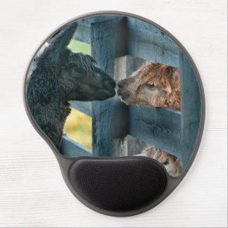 Kissing Alpaca Mouse Pad