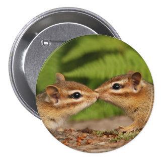 Kissing Baby Chipmunks Round Button