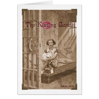 Kissing Bandit Greeting Card
