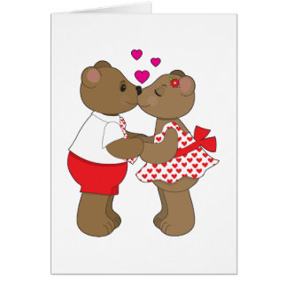 Kissing Bears Card