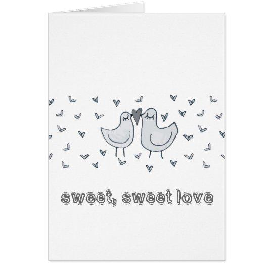 kissing birds card