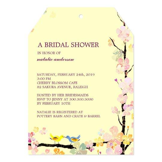 Kissing Birds Creamy Spring Bridal Shower Card