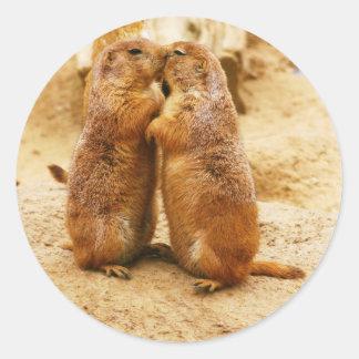 Kissing Black Tailed Prairie Dogs Sticker