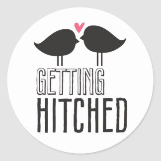 Kissing Booth - Getting Hitched - Circle Round Stickers