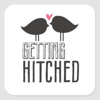 Kissing Booth - Getting Hitched - Square Square Stickers