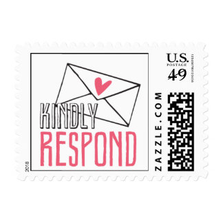 Kissing Booth - Kindly Respond Postage Stamp