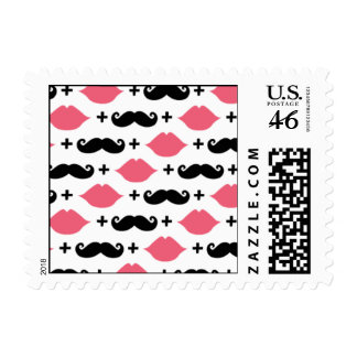 Kissing Booth - Lips Moustaches Postage Stamps