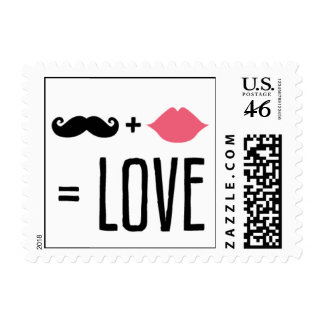 Kissing Booth - Mr + Mrs Love Postage Stamps