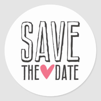 Kissing Booth - Save the Date - Circle Classic Round Sticker