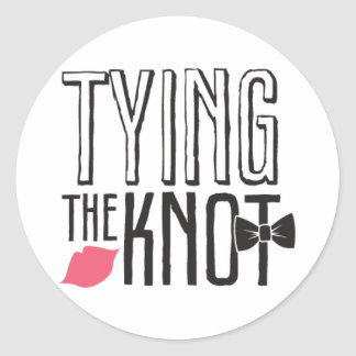 Kissing Booth - Tying the Knot - Circle Classic Round Sticker