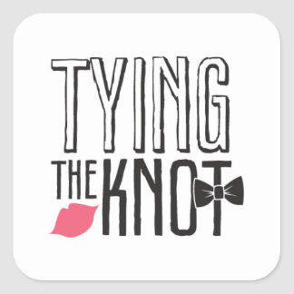 Kissing Booth - Tying the Knot - Square Sticker