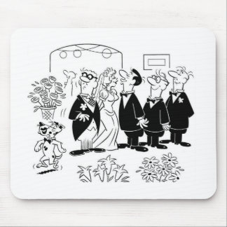 Kissing Bride Mouse Pad