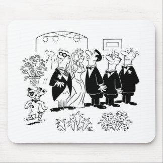 Kissing Bride Mouse Pad